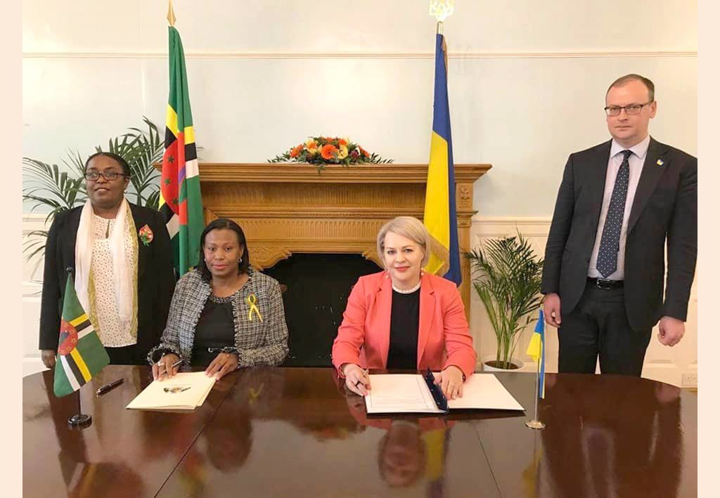 Dominica and Ukraine sign visa waiver agreement