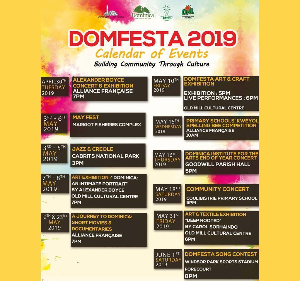 DOMFESTA 2019: Calendar of Events