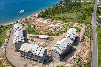 June 21, 2019 Caribbean Resort Construction Update: Aerial View to the North