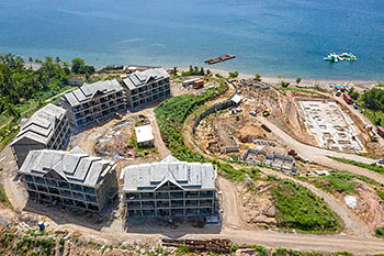 June 21, 2019 Caribbean Resort Construction Update: Aerial View of the Buildings 6-10