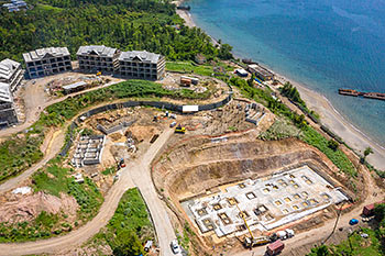 June 21, 2019 Caribbean Resort Construction Update: Buildings 1-3 and D (Engineering Block and BOH)
