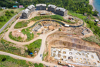 June 21, 2019 Caribbean Resort Construction Update: Aerial View to the South