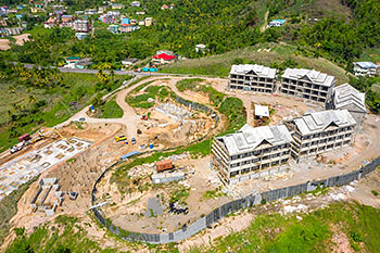 June 21, 2019 Caribbean Resort Construction Update: Aerial View to the West
