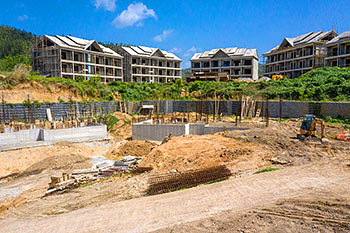 June 21, 2019 Caribbean Resort Construction Update: Retaining Walls for Buildings 1 and 2