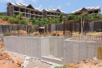June 21, 2019 Caribbean Resort Construction Update: Retaining Walls for Building 2