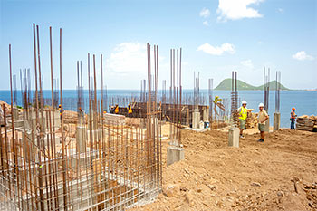 Dominica Resort Construction Update on June 4th, 2019: Footings for Building 3 (Presidential and Grand Suites)