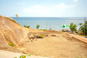 Dominica Resort Construction Update on June 4th, 2019: Ground Work for the Block D