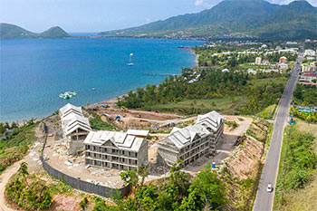 Dominica Resort Construction Update on June 5th, 2019: Aerial View to the North