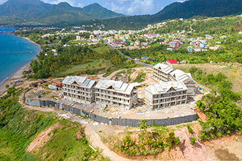Dominica Resort Construction Update on June 5th, 2019: Buildings 6, 7, 8, 9 and 10