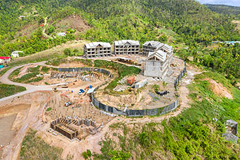 Dominica Resort Construction Update on June 5th, 2019: Start to Work on New Buildings
