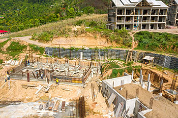 Dominica Resort Construction Update on June 5th, 2019: Buildings 1 and 2 (Guestrooms)