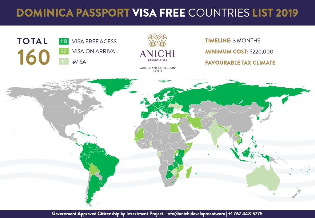 Dominica Passport Visa Free Countries List 2019