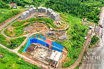 October 21, 2019 Construction Update: Aerial View of the Anichi Resort & Spa