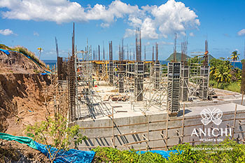 February 14, 2020 Construction Update: Building D with the Caribbean Sea View