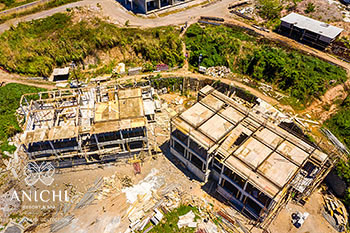 April 22, 2020 Construction Update: Aerial View of Buildings 1 and 2