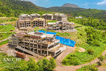 July 24, 2020 Construction Update: Aerial View of Anichi Resort & Spa
