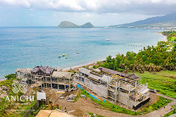 July 24, 2020 Construction Update: Buildings 3 and D with view to the Caribbean Sea