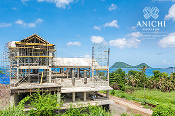 September 23, 2020 Construction Update: Building D with view to the Caribbean Sea