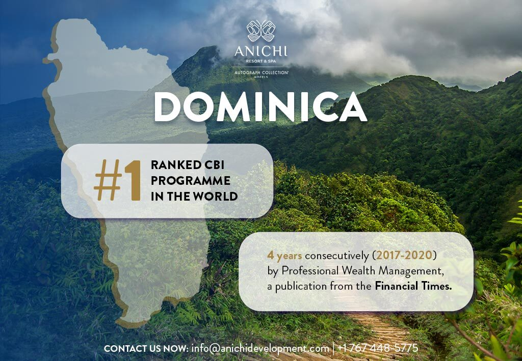 Dominica ranked #1 for Citizenship by Investment for fourth Consecutive year