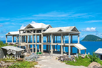 October 20, 2020 Construction Update: Building 3 with view to the Caribbean Sea