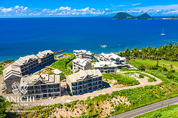 October 20, 2020 Construction Update: Caribbean Sea View of the Dominica Resort