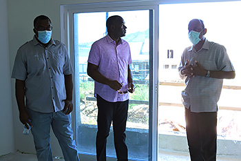 Dominica's Prime Minister inspects rooms at Anichi Resort & Spa
