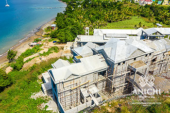 December 2020 Construction Update: Building 3 with the Caribbean Sea