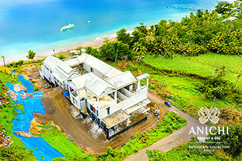 January 2021 Construction Update of Anichi Resort & Spa: Aerial View of Building D