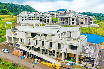 January 2021 Construction Update of Anichi Resort & Spa: South View of the Building D