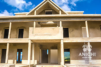 January 2021 Construction Update of Anichi Resort & Spa: Entrance to the Building 1