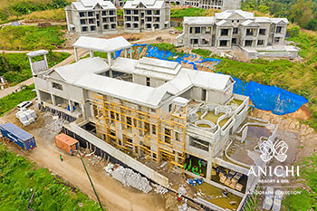 February 2021 Construction Update of Anichi Resort & Spa: Aerial View of Building D
