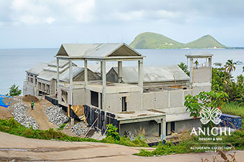 February 2021 Construction Update of Anichi Resort & Spa: North View of the Building D