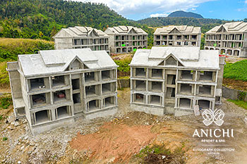 February 2021 Construction Update of Anichi Resort & Spa: Buildings 1 and 2
