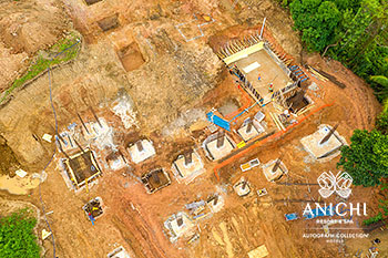 February 2021 Construction Update of Anichi Resort & Spa: Foundation work for Block A