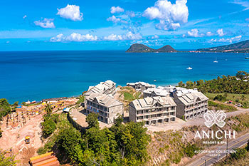 March 2021 Construction Update of Anichi Resort & Spa: Aerial View to the North of Dominica