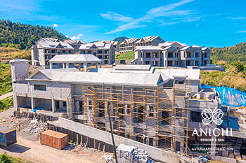 March 2021 Construction Update of Anichi Resort & Spa: Aerial View of Building D