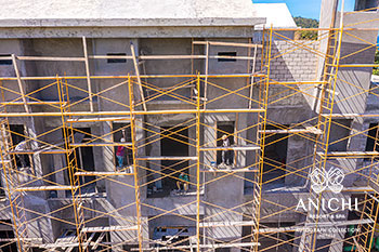 March 2021 Construction Update of Anichi Resort & Spa: North Wall of the Building D