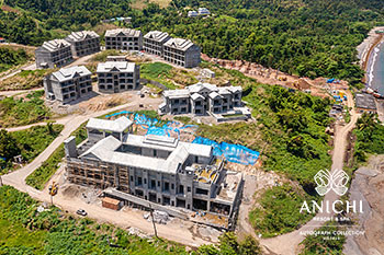 April 2021 Construction Update of Anichi Resort & Spa: Aerial View