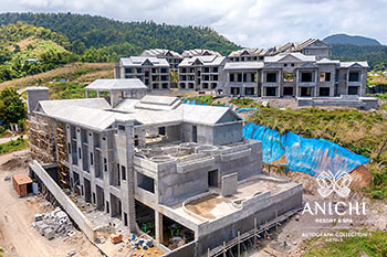 April 2021 Construction Update of Anichi Resort & Spa: Aerial View of Building D