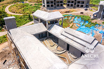 April 2021 Construction Update of Anichi Resort & Spa: Roof of Building D