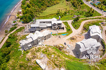 April 2021 Construction Update of Anichi Resort & Spa: North View of Buildings D, 3 and 2