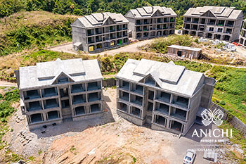 April 2021 Construction Update of Anichi Resort & Spa: Buildings 1 and 2