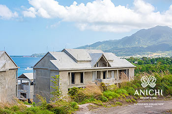 April 2021 Construction Update of Anichi Resort & Spa: North View of Building 1