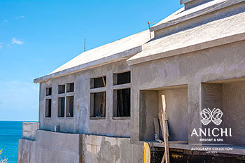 May 2021 Construction Update of Anichi Resort & Spa: South Wall of Building D