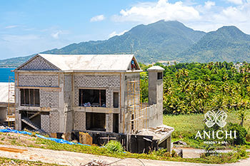 May 2021 Construction Update of Anichi Resort & Spa: Building D with Mountain View