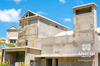May 2021 Construction Update of Anichi Resort & Spa: East View of Building D