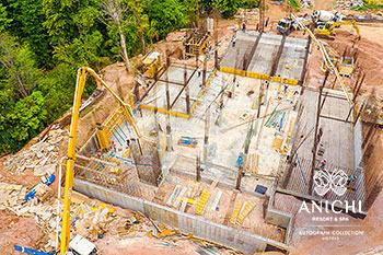 May 2021 Construction Update of Anichi Resort & Spa: Aerial View of Block A