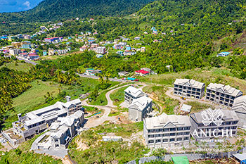 June 2021 Construction Update of Anichi Resort & Spa: East View of the Construction Site