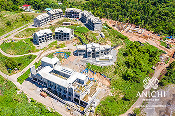 June 2021 Construction Update of Anichi Resort & Spa: Aerial View of the Construction Site