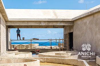 June 2021 Construction Update of Anichi Resort & Spa: Sea View from Building D